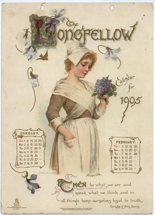 THE LONGFELLOW CALENDAR FOR 1905