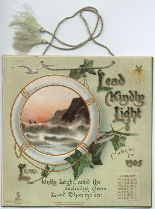 LEAD KINDLY LIGHT CALENDAR FOR 1905
