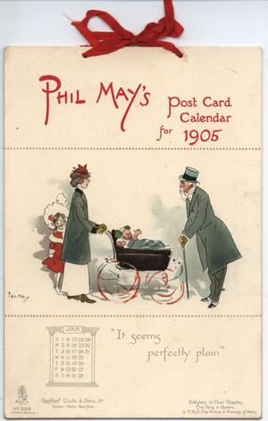 PHIL MAY'S POST CARD CALENDAR FOR 1905