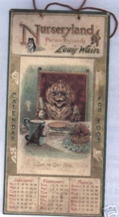 NURSERYLAND PICTURE POSTCARDS CALENDAR FOR 1905