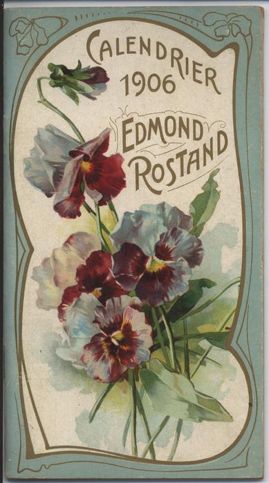 CALENDRIER 1906 EDMOND ROSTAND