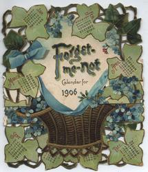 FORGET-ME-NOT CALENDAR FOR 1906