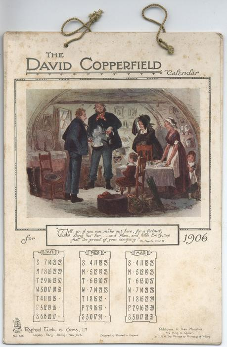 THE DAVID COPPERFIELD CALENDAR FOR 1906