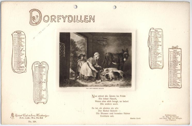 DORFYDILLEN KALENDER FUR 1907