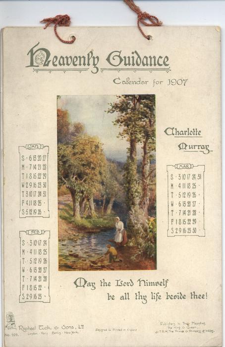 HEAVENLY GUIDANCE CALENDAR FOR 1907