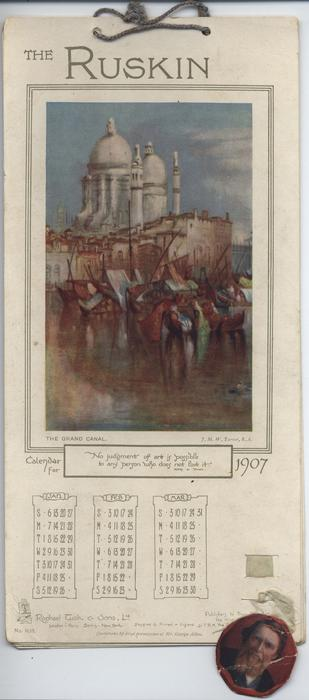 THE RUSKIN CALENDAR FOR 1907
