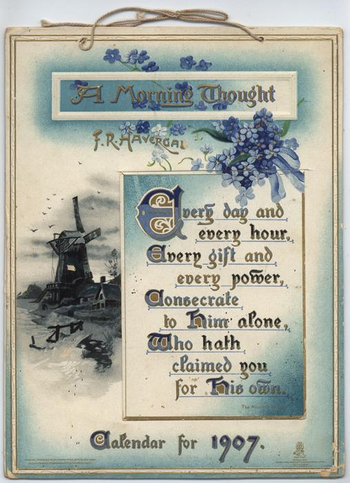 A MORNING THOUGHT CALENDAR FOR 1907