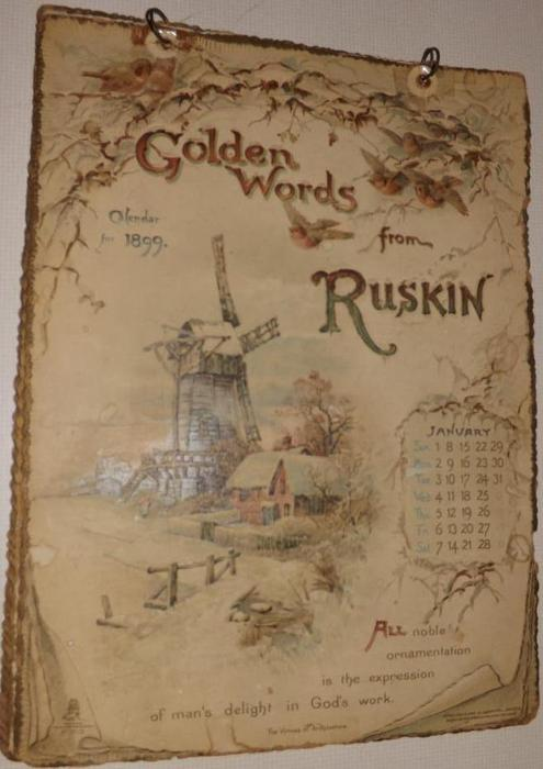 GOLDEN WORDS FROM RUSKIN CALENDAR FOR 1899