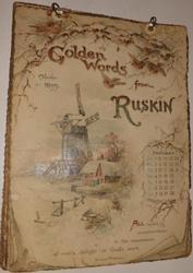 GOLDEN WORDS FROM RUSKIN CALENDAR FOR 1899
