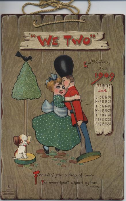 WE TWO CALENDAR FOR 1909