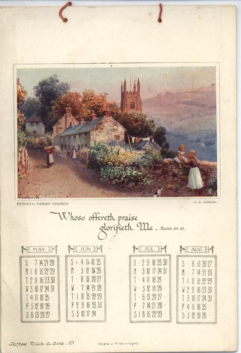 WORDS OF PRAISE CALENDAR FOR 1911
