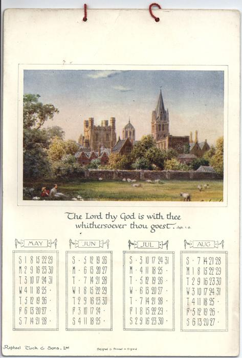 WORDS OF COMFORT CALENDAR FOR 1910