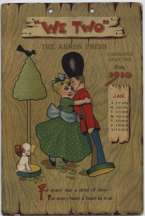 WE TWO THE AKRON PRESS CARRIERS GREETING FOR 1910