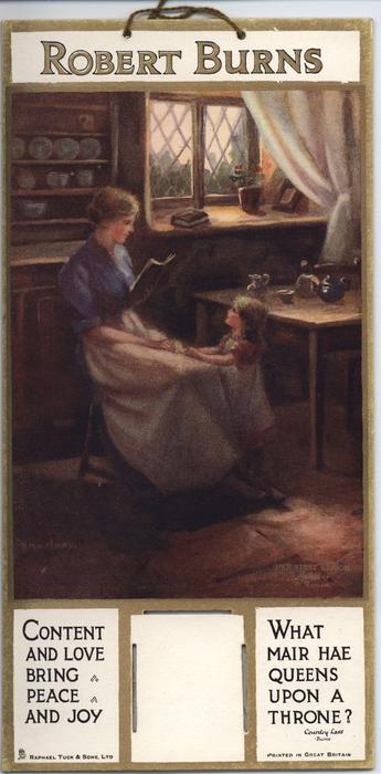 ROBERT BURNS, HER FIRST LESSON