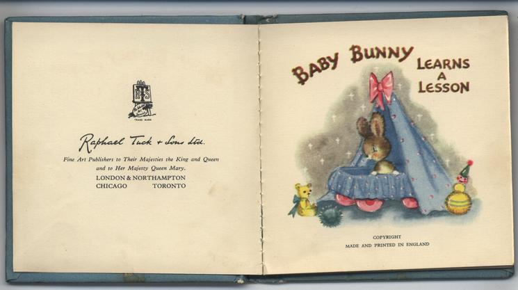 BABY BUNNY LEARNS A LESSON