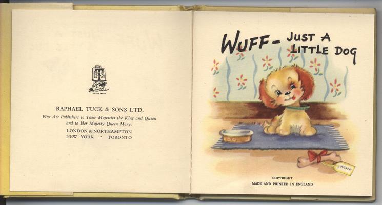 WUFF-JUST A LITTLE DOG
