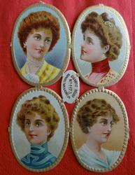 cameo portraits of beautiful women