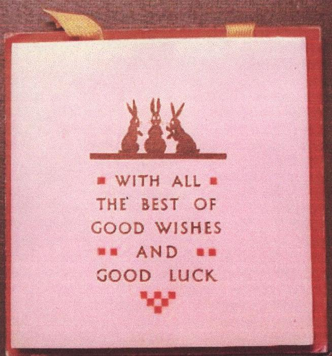 WITH ALL THE BEST OF GOOD WISHES AND GOOD LUCK