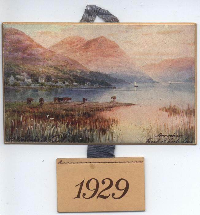 ARROCHAR HEAD OF LOCH LONG (title on front) MIDST HILL AND HEATHER (title on reverse)