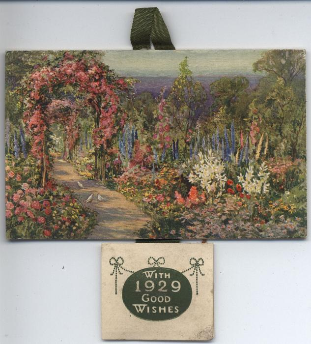 WHEN THE FLOWERS ARE IN BLOOM (title on reverse)