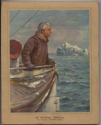 """SIR WILFRED GREENFELL ON BOARD """"STRATHCONA"""" coloured"""