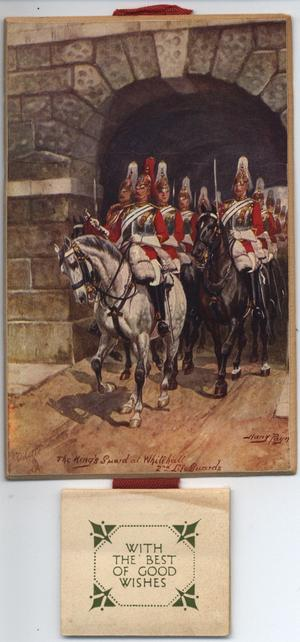 THE KING'S GUARD AT WHITEHALL, 2ND LIFEGUARDS