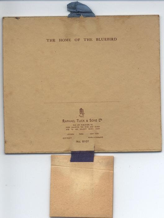 THE HOME OF THE BLUEBIRD (title on reverse)