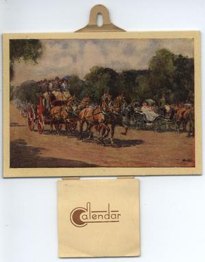 IN THE NAUGHTY NINETIES horses and carriages (title on reverse)