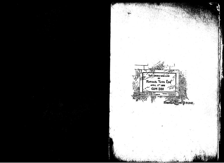 Comprehensive brochure prepared for opening of Tuck House 1899