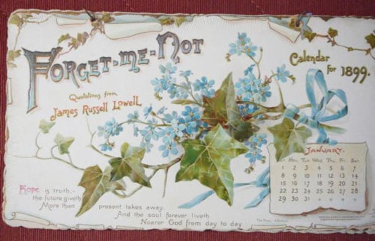 FORGET-ME-NOT CALENDAR FOR 1899