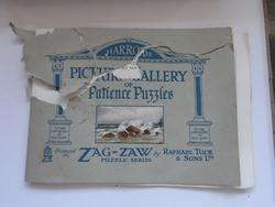 damaged Catalogue of HARRODS PICTURE GALLERY OF PATIENCE PUZZLES ZAG-ZAW