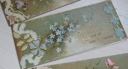 REMEMBRANCE AND ALL GOOD WISHES, blue forget-me-nots around
