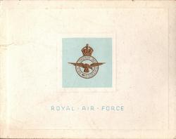 ROYAL AIR FORCE (front) -- R.A.F. STATION CHURCH LAWFORD (inside)