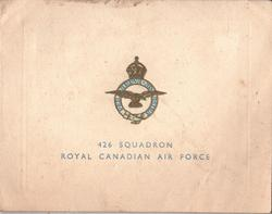 426 SQUADRON ROYAL CANADIAN AIR FORCE