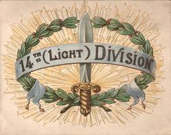 14TH. (LIGHT) DIVISION, wreath & bayonet