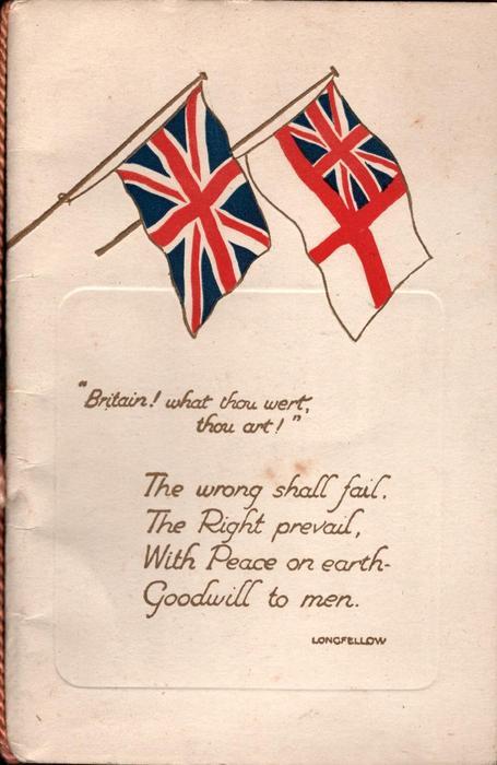 BRITAIN! WHAT THOU WERT, THOU ART! Union Jack & White Ensign