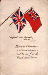 """Union Jack & red Ensign """"ENGLAND! WHAT THOU WERT, THOU ART!"""