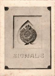 SIGNALS below ROYAL ENGINEERS badge in centre placard