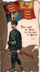 KING'S ROYAL RIFLES  United Kingdom ensign, THE PATH OF DUTY BE THE WAY TO GLORY