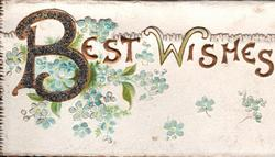 BEST WISHES forget-me-nots