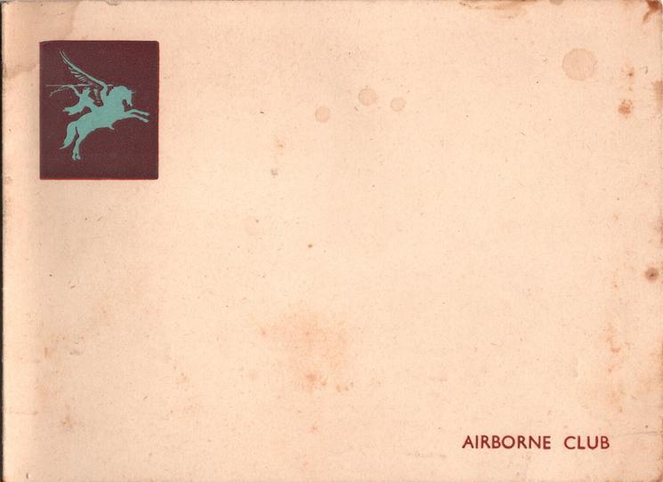 AIRBORNE CLUB crest on deep red background upper left