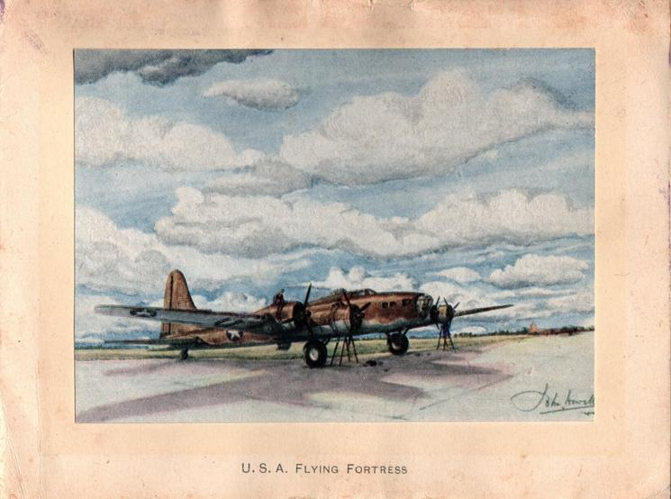 USA FLYING FORTRESS, 95TH BOMBARDMENT GROUP painting of plane