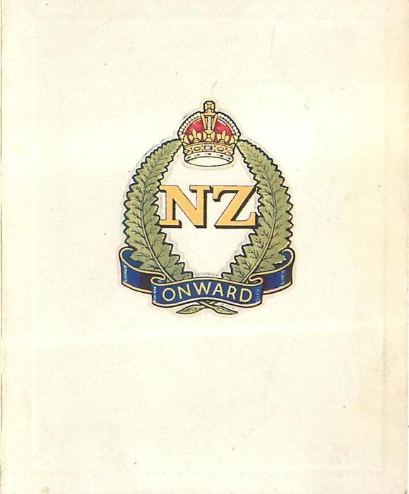 NZ  ONWARD yellow, red, green & blue crest