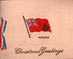 Canadian flag, CANADA, CHRISTMAS GREETING