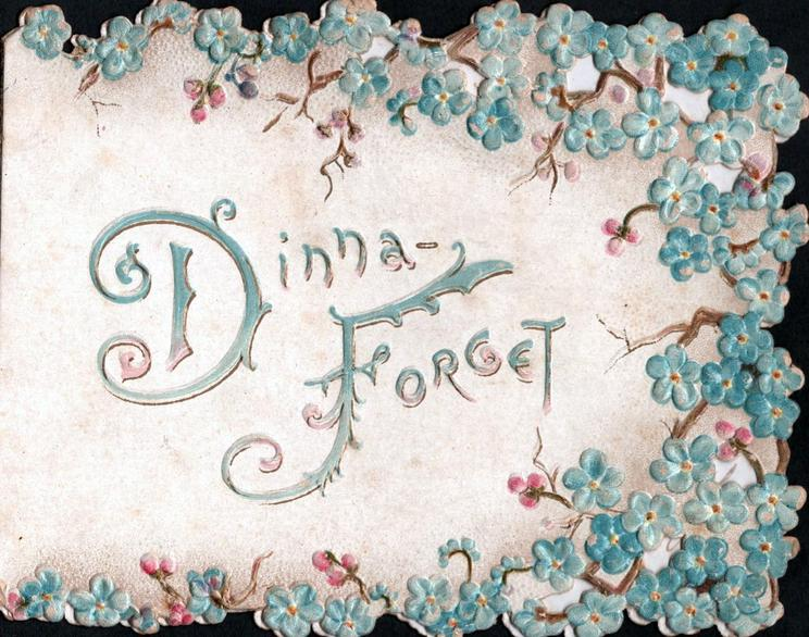 DINNA FORGET(D&F illuminated) multiple small sprays of blue forget-me-nots