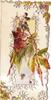no front title virginia creeper autumn colour leaves & black berries in front of panel