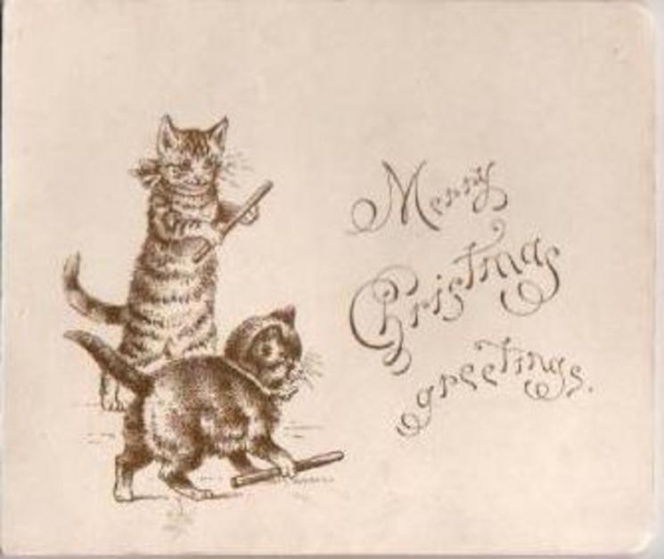 MANY CHRISTMAS GREETINGS  --  THE AIMS OF ONE AND ALL TO-DAY IS PLEASURE, AND MAY YOU WIN IT IN ITS FULLEST MEASURE