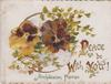 PEACE BE WITH YOU! pansies & geyko leaves over perforation, much religious text for New Year & some rural floral scenes