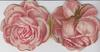 single pink rose flower front & back, POEMS illustrated by people in floral & mostly rural scenes