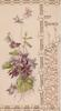 BEST WISHES at top of perforated & designed right flap & margins, violets on front left flap
